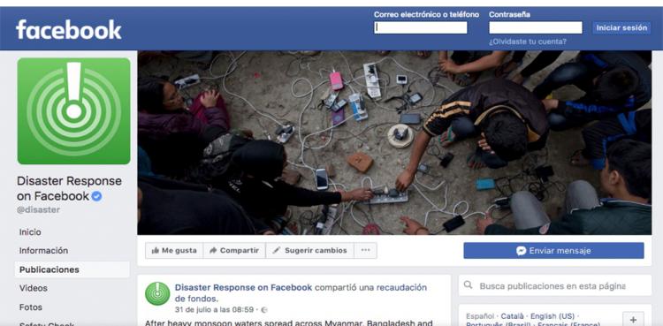Seguridad ante la emergencia en Facebook