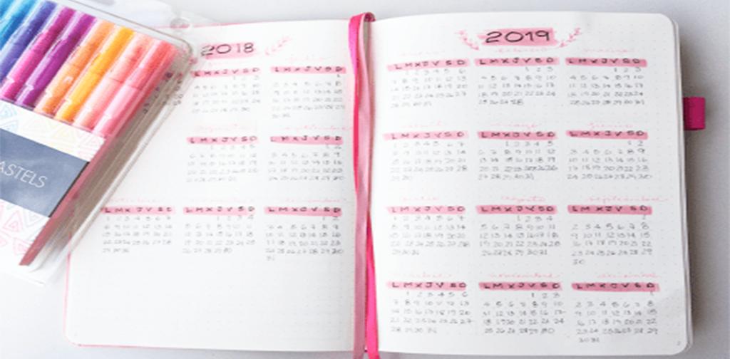 Calendario para Bullet Journal