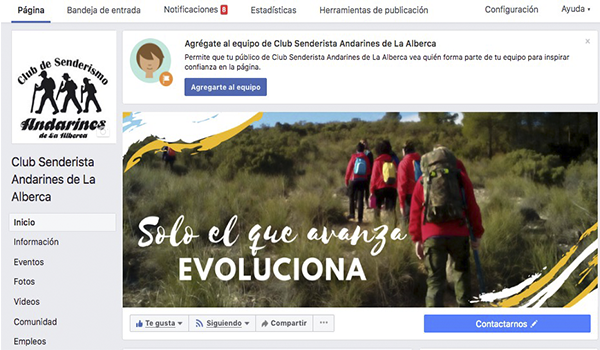 Facebook Club Andarines de La Alberca