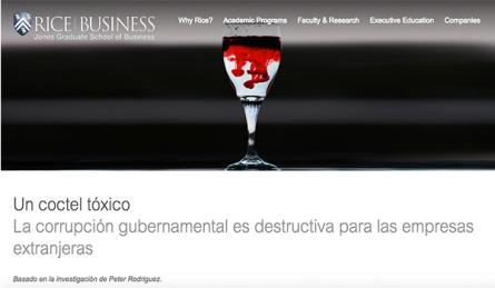 La corrupción gubernamental es destructiva para las empresas extranjeras (traducción)