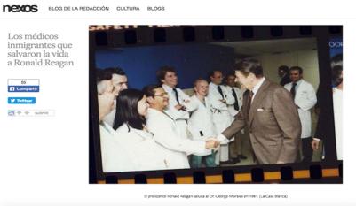 Los médicos emigrantes que salvaron la vida a Reagan (traducción)