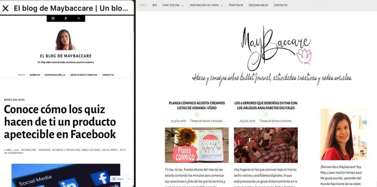 Nuevo diseño de blog maybaccare