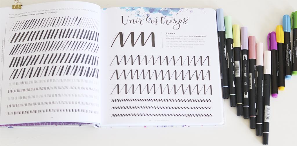 Primeros trazos en lettering y rotuladores.