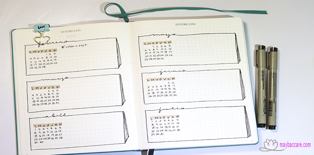 registro futuro en bullet journal