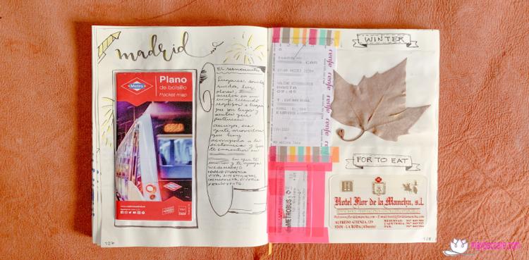 ideas para bullet journal de vacaciones