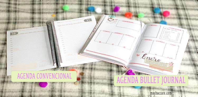 agenda tradicional o bullet journal